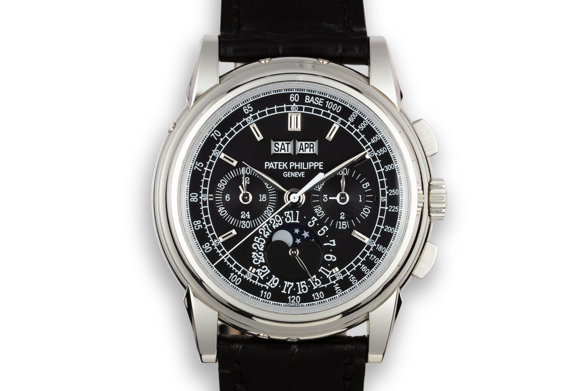 2009 Patek Philippe Platinum Perpetual Calendar Chronograph 5970P-001 With Box and Papers photo, #0