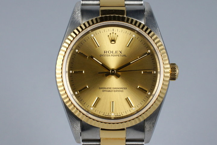 1995 Rolex Two Tone Oyster Perpetual 14233 photo