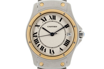 1990's Cartier Santos Ronde Automatic with Box and Papers photo
