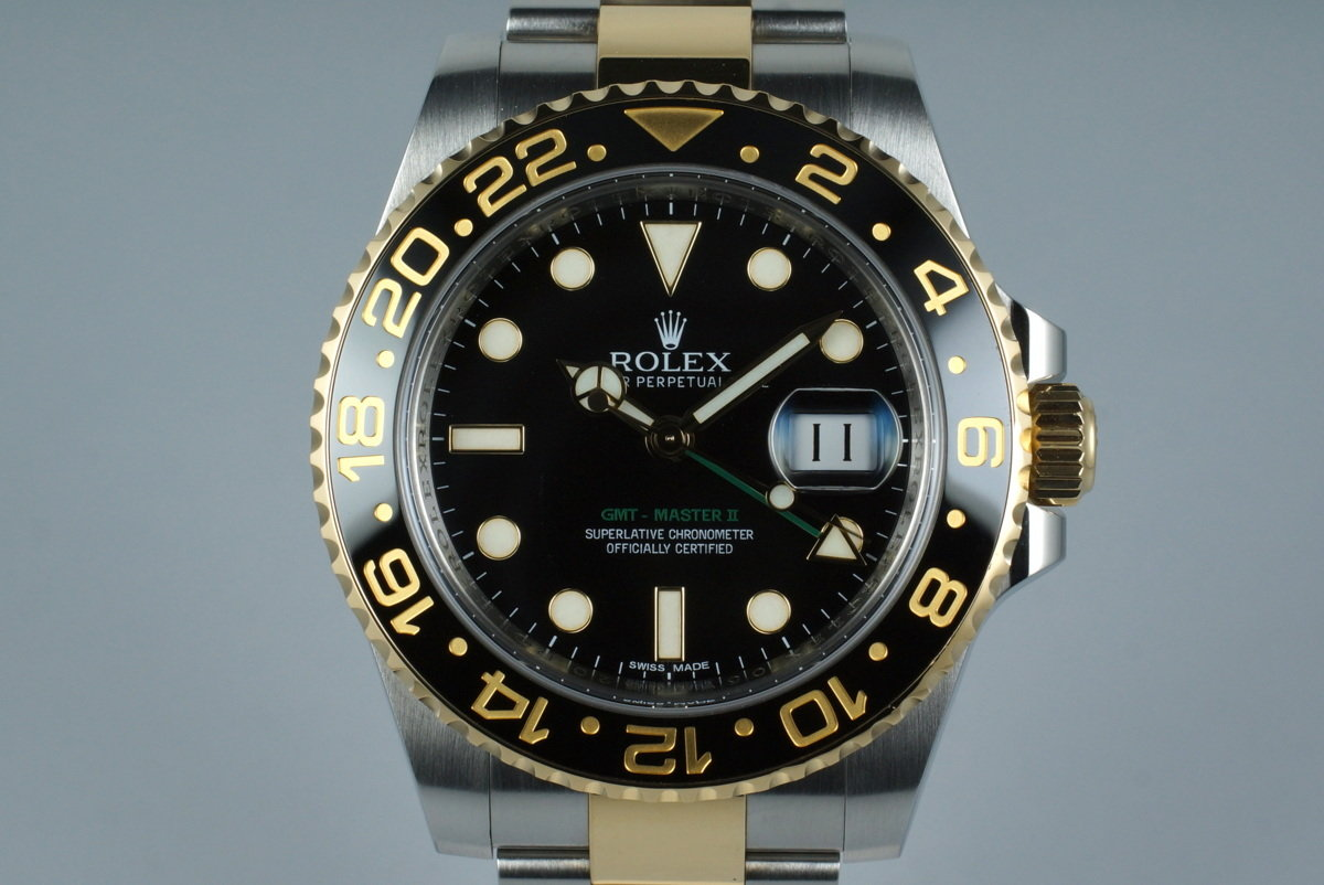 2013 Rolex Two Tone GMT II 116713 with Box and Papers photo, #0