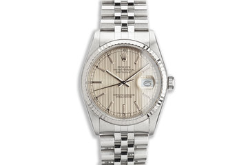 1988 Rolex DateJust 16234 Champagne Tapestry Dial photo