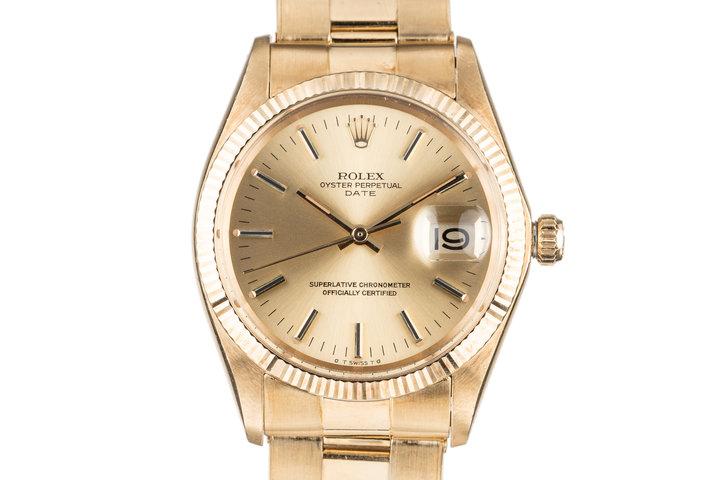 1971 Rolex 18K Date 1503 photo