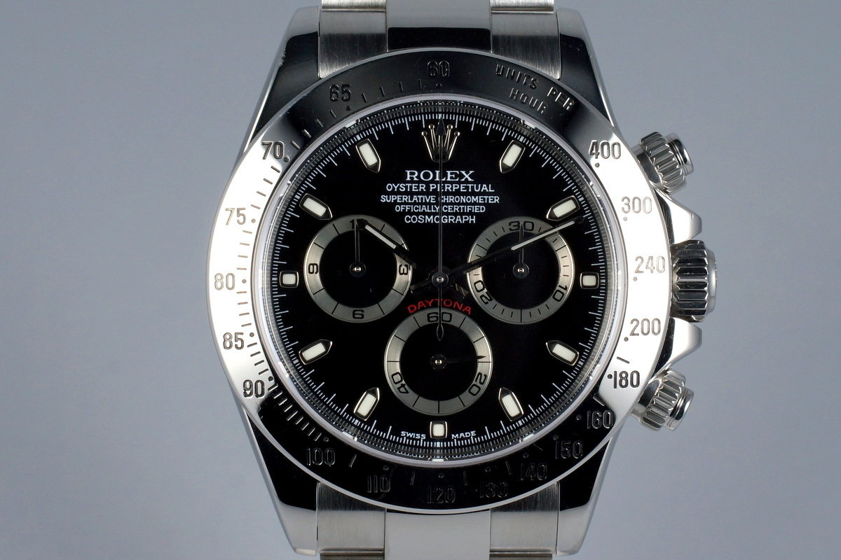 2002 Rolex Daytona 116520 Black Dial with Box and Papers photo, #0
