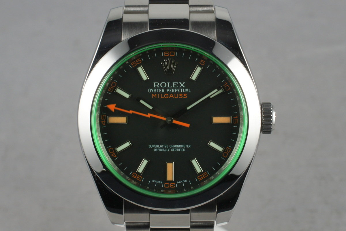 2009 Rolex Milgauss Green 116400GV photo, #0