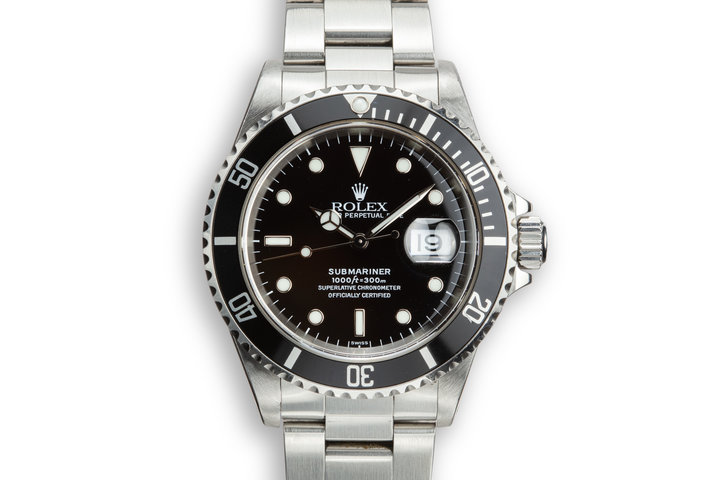 1998 Rolex Submariner 16610 SWISS Only Dial with Box and Papers photo