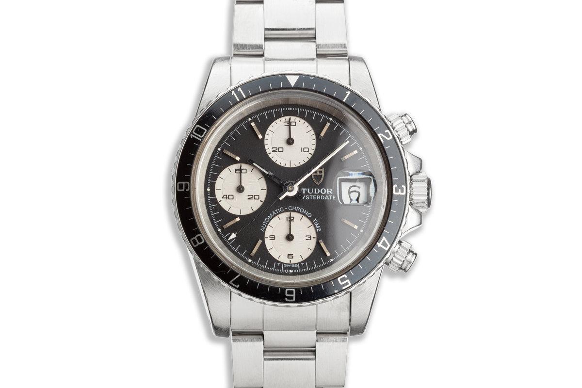 1989 Unpolished Tudor Chronograph Big Block 79170 Black & White Dial photo, #0