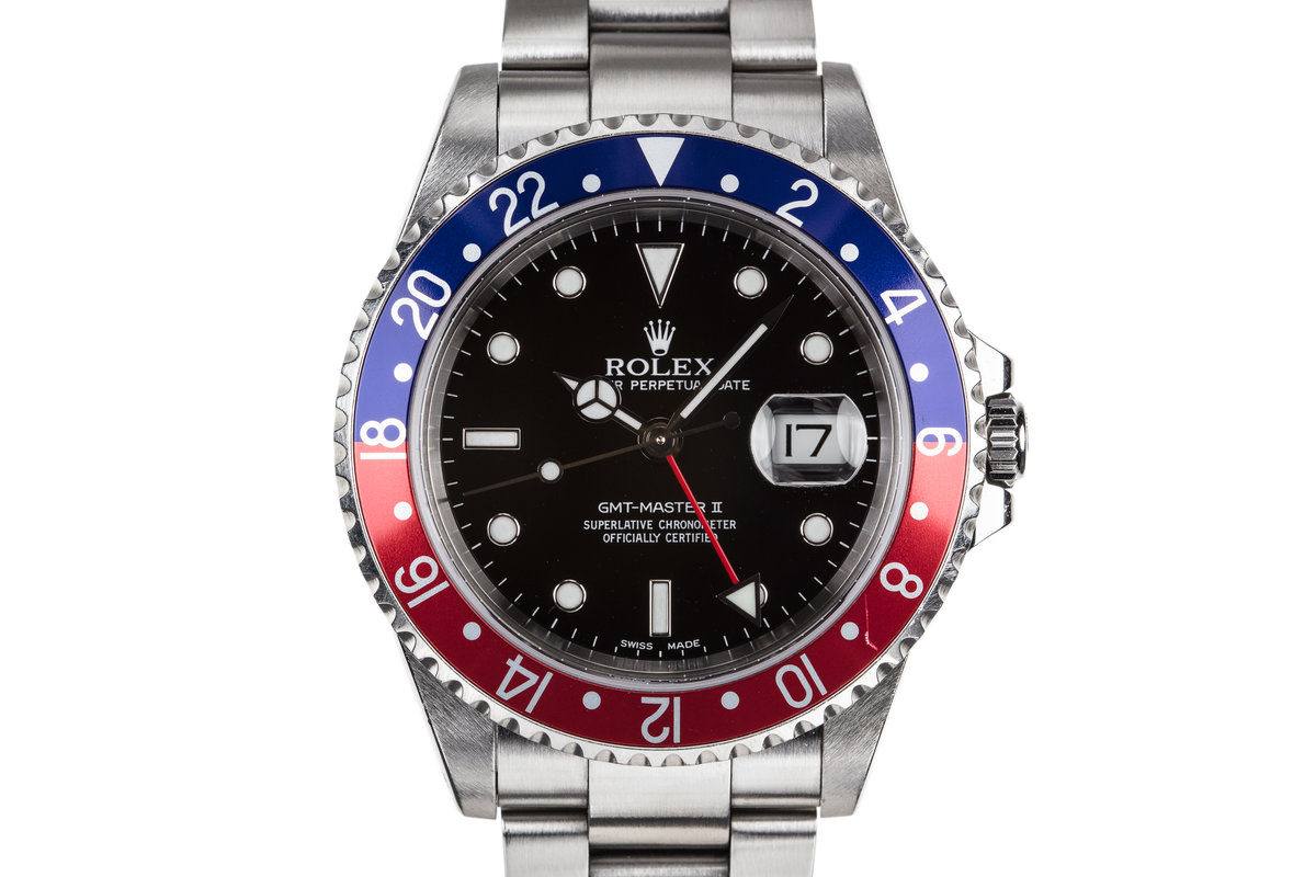 """2000 Rolex GMT-Master II 16710 """"Pepsi"""" with Box and Papers photo, #0"""