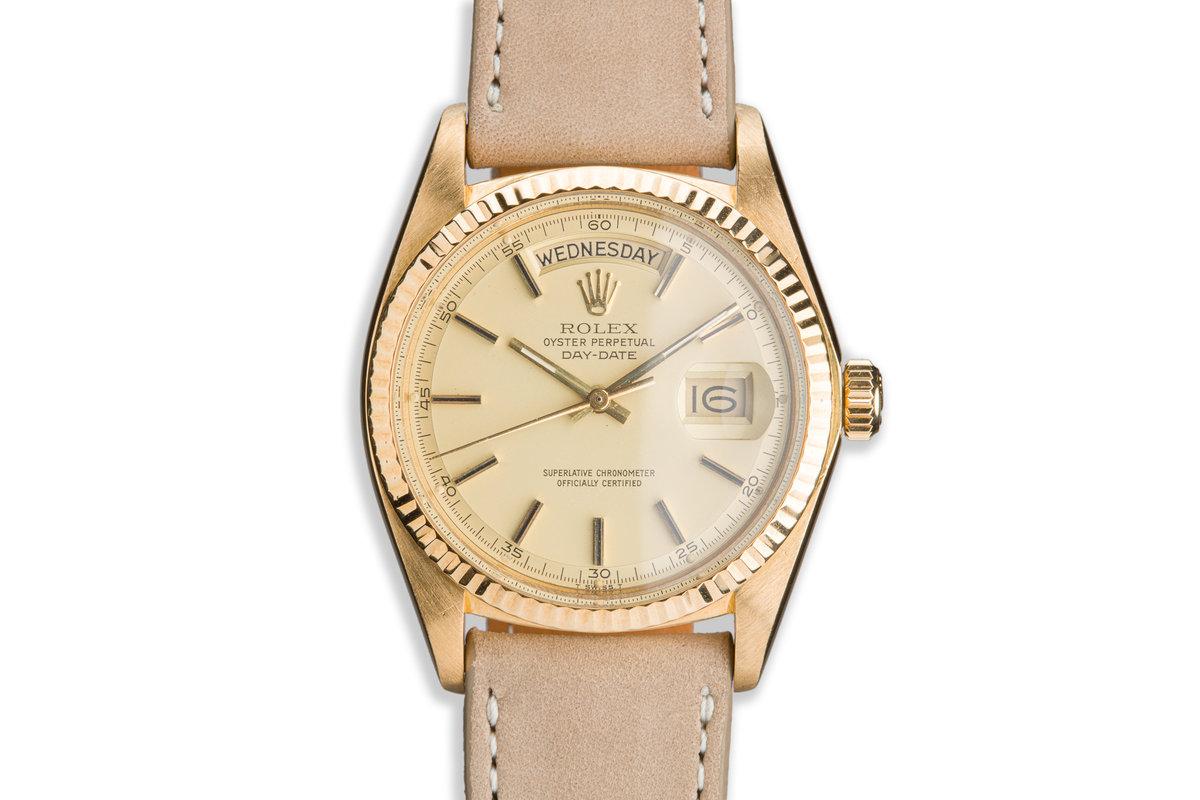 1977 Vintage Rolex 18K Day-Date 1803 Matte Dial photo, #0