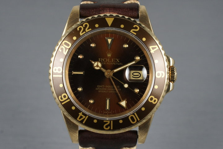 1981 Rolex YG Root Beer GMT 16758 photo