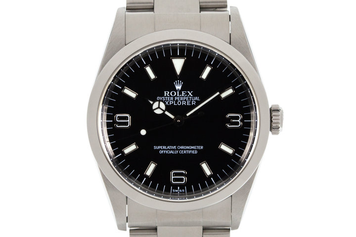 1999 Rolex Explorer 14270 with uncommon SWISS only dial photo