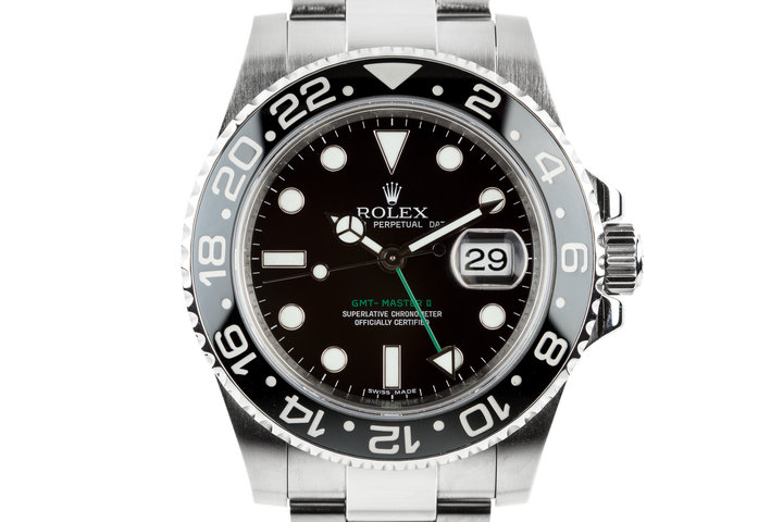 2009 Rolex Ceramic GMT-Master II Black Bezel Insert and Box and Papers photo