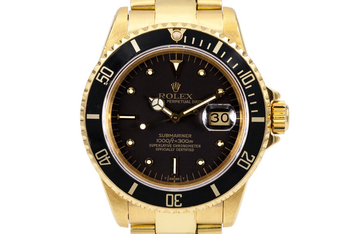1982 Rolex YG Submariner 16808 Black Nipple Dial photo