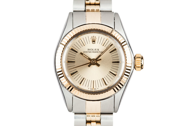 1972 Rolex Two-Tone Ladies Oyster Perpetual 6719 photo
