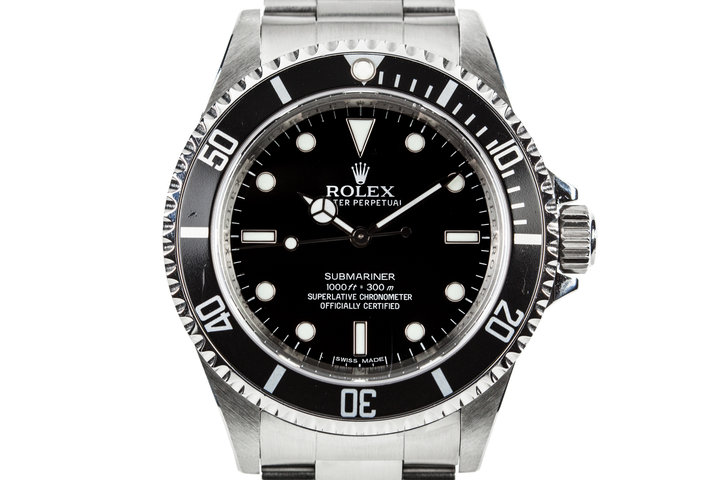 2012 Rolex Submariner 14060M with Box and Papers with 4 Line Dial photo