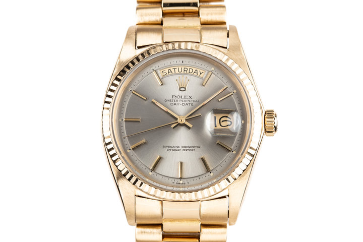 1970 Rolex 18K Day-Date 1803 Grey Dial photo