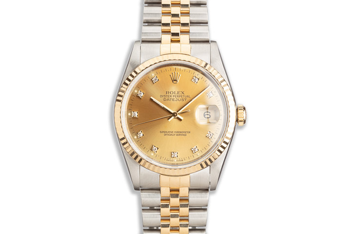 1993 Rolex Two-Tone DateJust 16233 Gold Diamond Dial photo