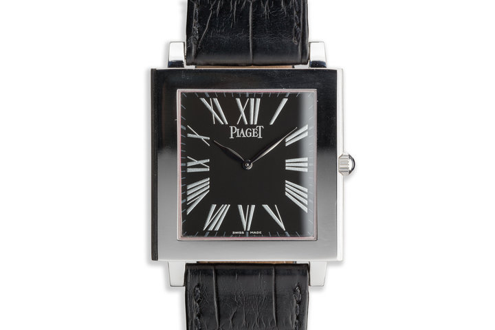 Piaget Altiplano Mécanique P10074 18k White Gold with Black Dial photo