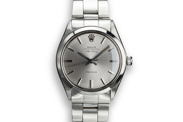 "1970 Rolex Air-King 5500 with Grey ""Ghost Dial"" photo"