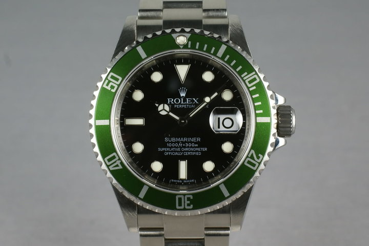 Rolex Green Submariner 16610 LV V Serial photo
