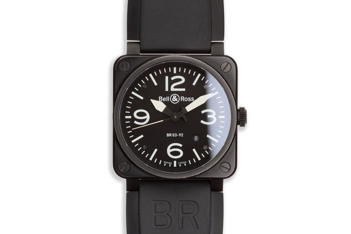 Bell & Ross BR0392-BL-CE BLACK MATTE photo