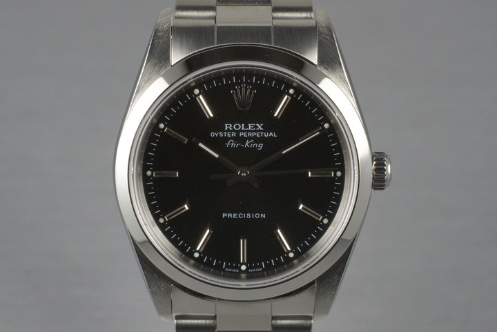 2003 Rolex Air King 14000M with Box and Papers photo