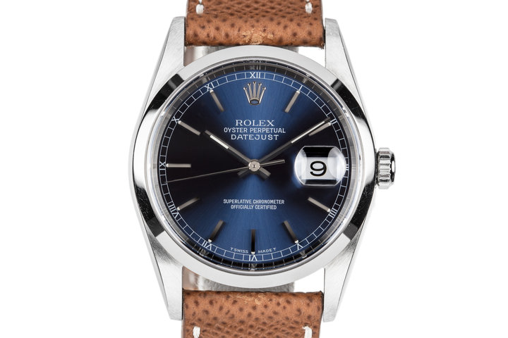 1997 Rolex DateJust 16200 Blue Dial photo