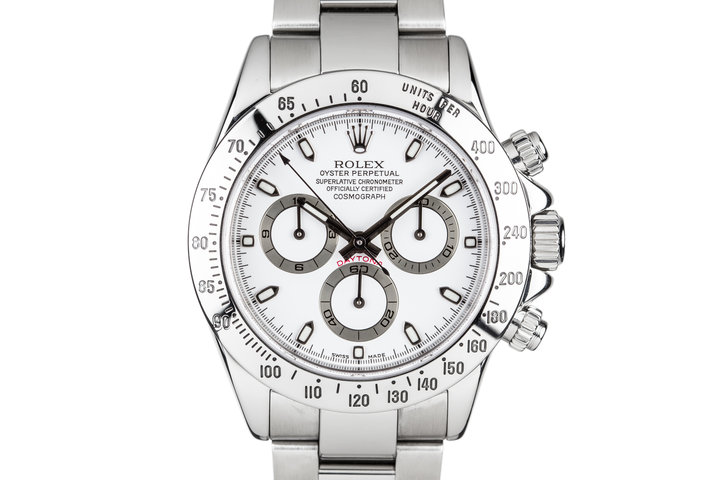 2003 Rolex Daytona 116520 White Dial with Box and Papers photo