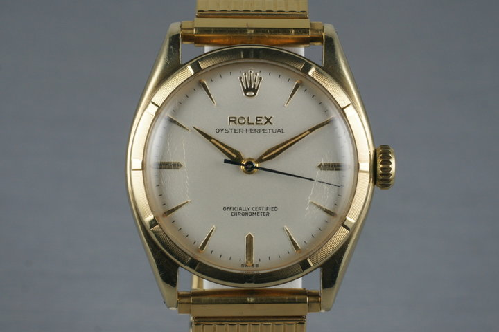 1951 Rolex 18K Oyster Perpetual 6085 photo