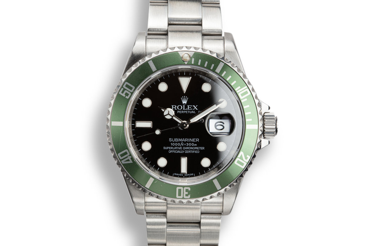 2009 Rolex Anniversary Green Submariner 16610LV photo, #0