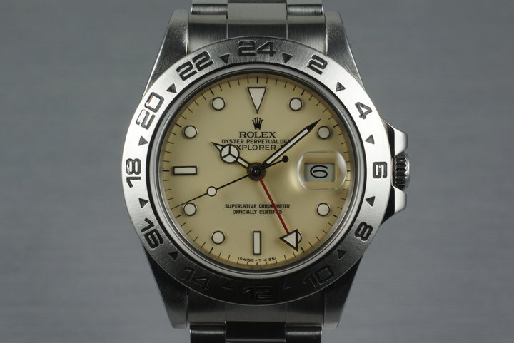 1986 Rolex Explorer II 16550 Cream Rail Dial with Box and Papers photo