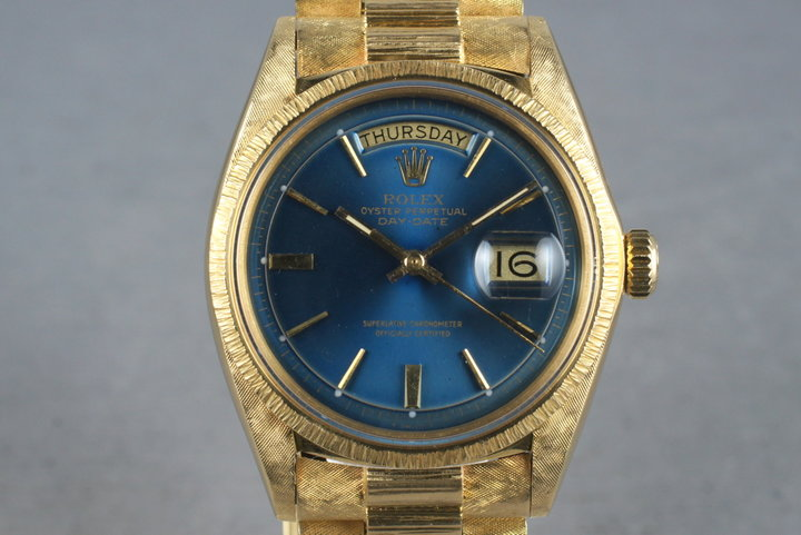 1971 Rolex 18K YG President1807 with Bark and Morellis Finish photo