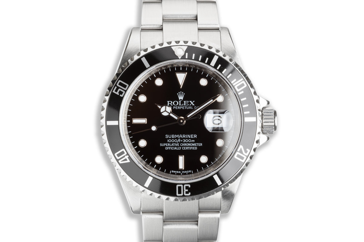 2008 Rolex Submariner 16610 with Box & Card & Service Card photo, #0