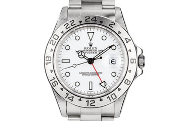 1998 Rolex Explorer II 16570 with White SWISS Only Dial photo
