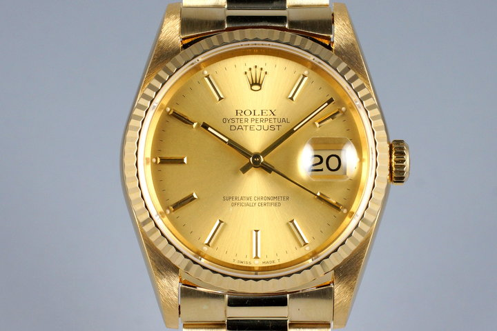1989 Rolex YG DateJust 16238 photo