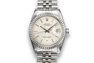 1978 Rolex DateJust 1603 Silver Dial with Service Papers photo