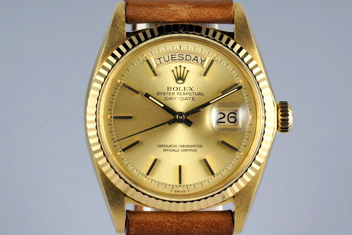 1977 Rolex YG Day Date 1803 Champagne Dial photo