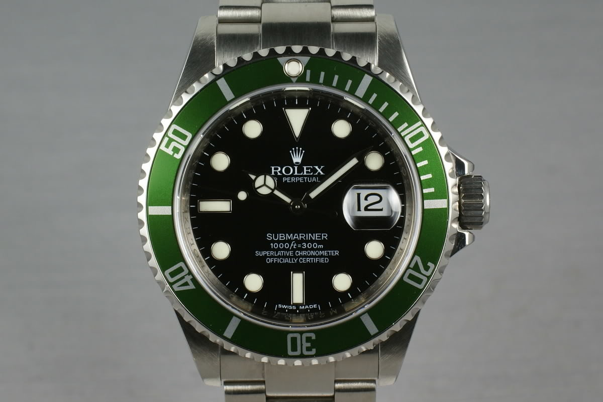 Rolex Green Submariner 16610 LV M Serial with Box and Papers photo, #0
