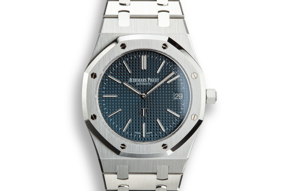 "Audemars Piguet Royal Oak ""Jumbo"" Extra-Thin 15202ST.OO.1240ST.01 with Box and Papers photo, #0"