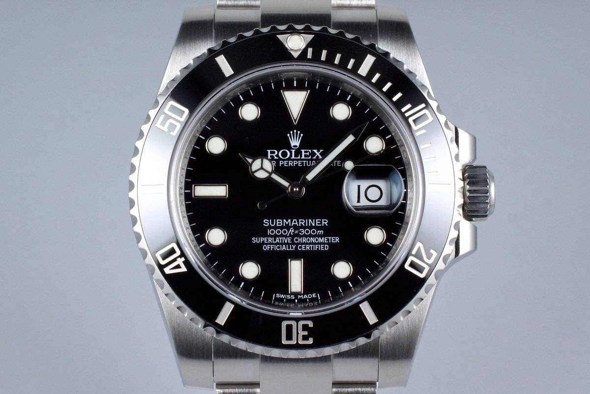 hq milton 2016 rolex submariner 116610 inventory 8173. Black Bedroom Furniture Sets. Home Design Ideas