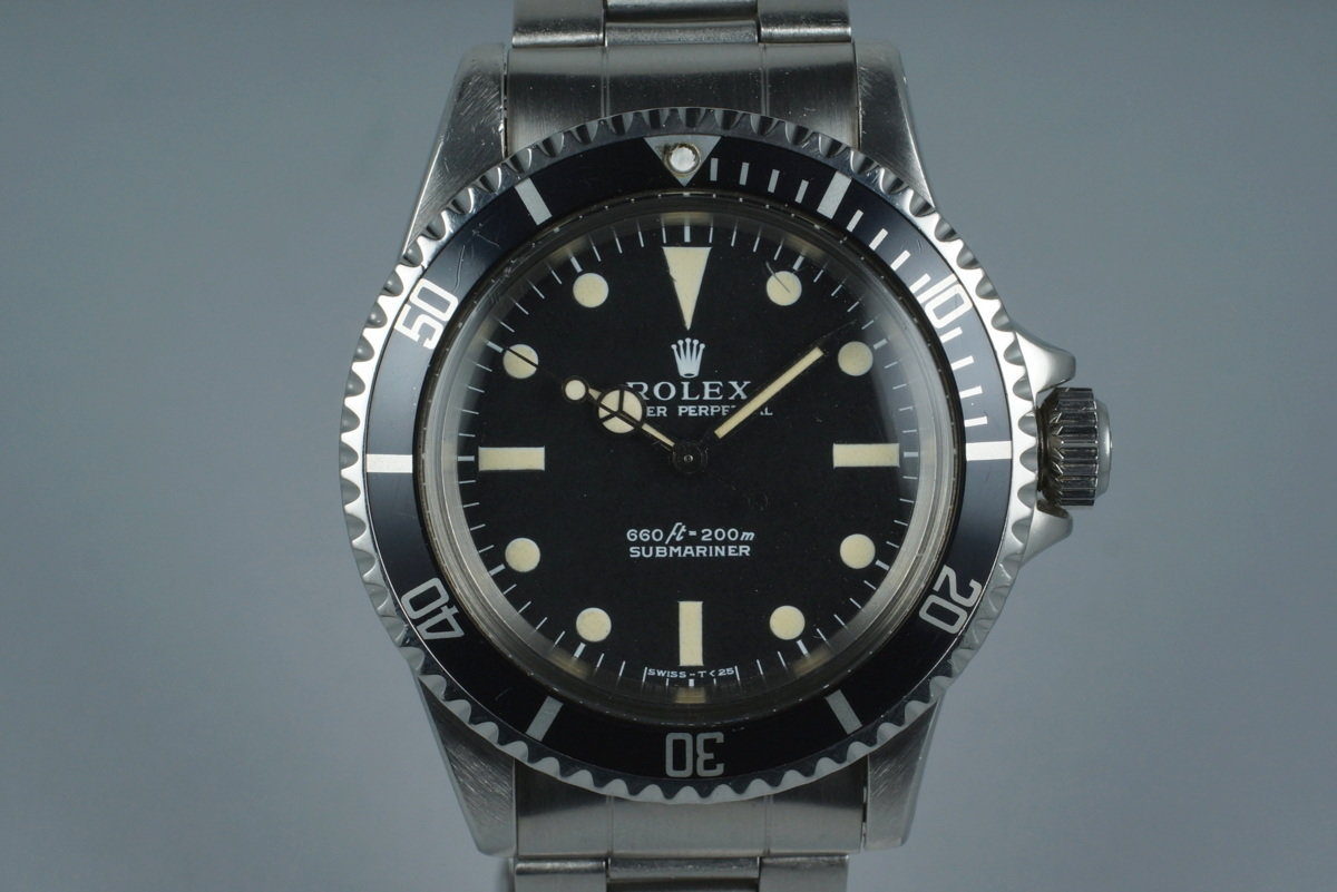 0545682310ce HQ Milton - 1970 Vintage Rolex Submariner 5513 with Serif Dial ...