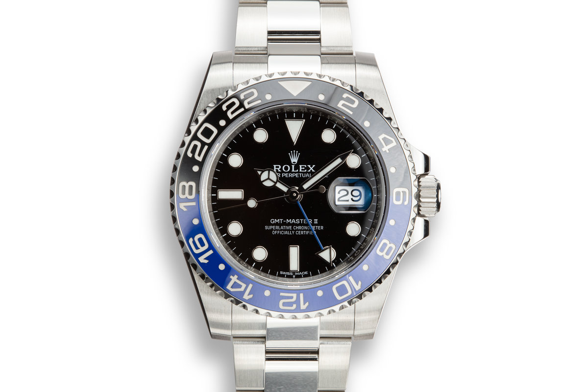 """2016 Rolex GMT-Master II 116710 BLNR """"Batman"""" with Box and Papers photo, #0"""