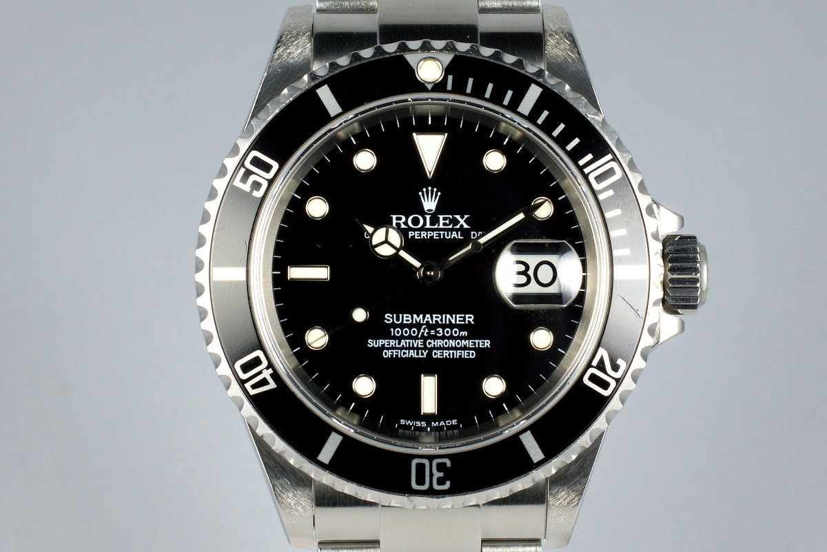 2003 Rolex Submariner 16610 with Box and Papers photo, #0