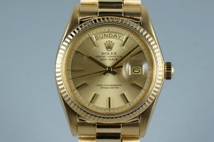 1970 Rolex YG Day-Date 1807 Champagne Dial photo
