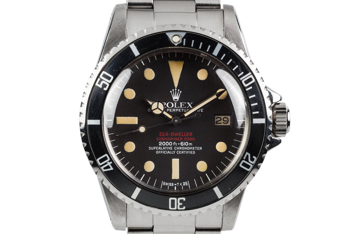 1977 Rolex Double Red Sea Dweller 1665 Mark IV Dial photo, #0