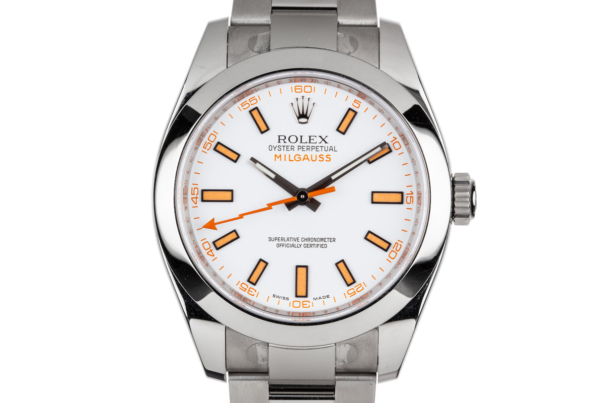 2009 Rolex Milgauss 116400 White Dial with Box and Papers photo, #0