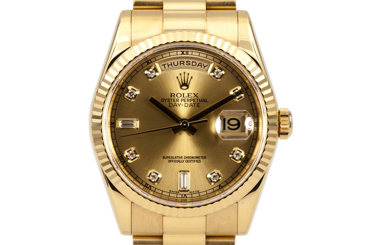 2005 Rolex YG Day-Date 118238A with Gold with Diamond photo
