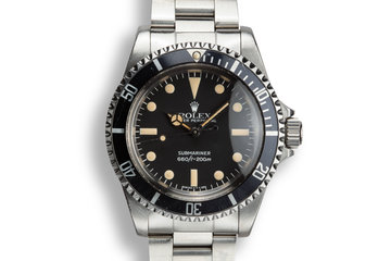 1982 Rolex Submariner 5513 with MK IV Maxi Dial photo