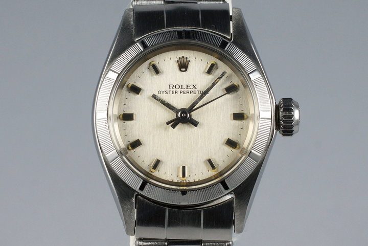 1969 Rolex Ladies Oyster Perpetual 6623 Silver Dial photo