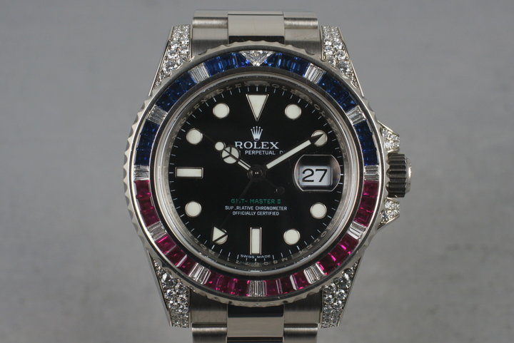 2007 Rolex GMT 18K 116759 with Factory Ruby, Sapphire, and Diamonds photo