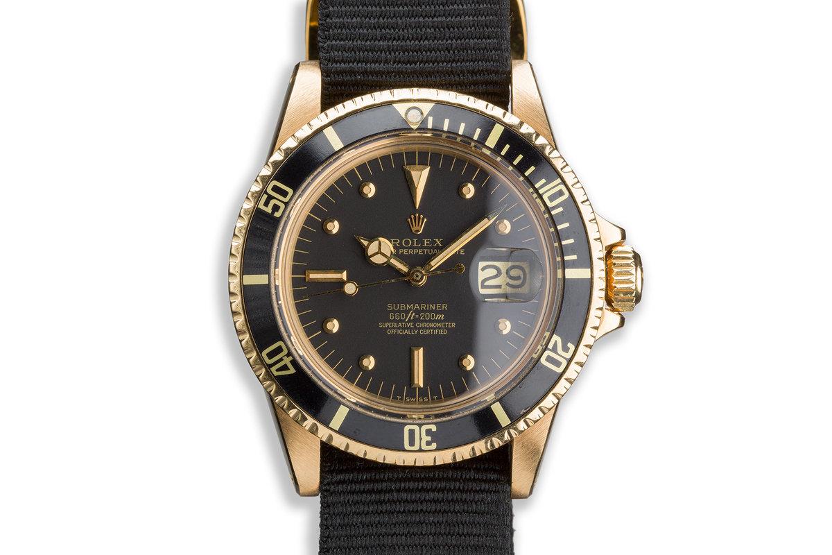 1979 Rolex 18K YG Submariner 1680 with Black Nipple Dial photo, #0